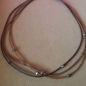 SILPADA TRIPLE LEATHER CORD NECKLACE